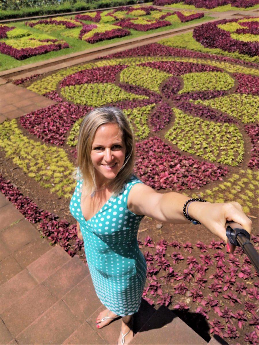 Rejtett csoda mandala fűszőnyeg Botanikus Kert Madeira Lindával