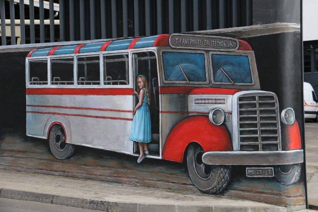 Journey to the Past, girl on the bus to Ribeira Brava